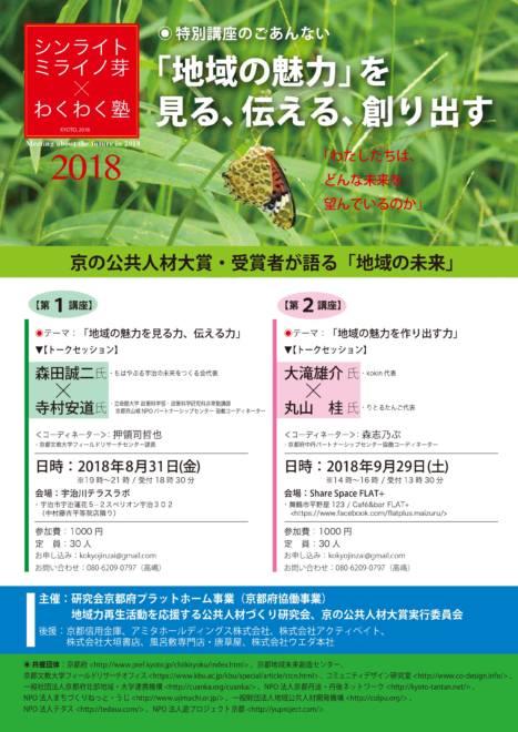 シンライトミライノ芽×わくわく塾2018 舞鶴講座